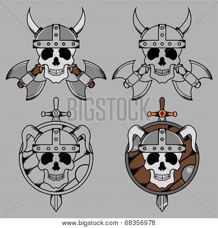 Viking Skull Mascot