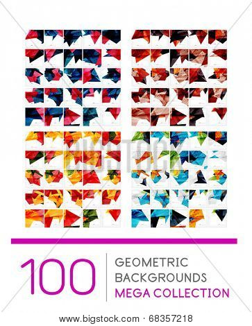 Mega collection of geometric shape abstract backgrounds - 100 layout templates