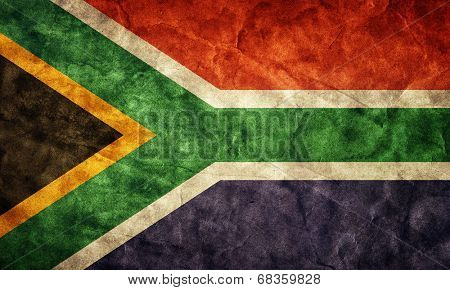 South Africa grunge flag. Vintage, retro style. High resolution, hd quality. Item from my grunge flags collection.