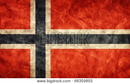 Norway grunge flag. Vintage, retro style. High resolution, hd quality. Item from my grunge flags collection.