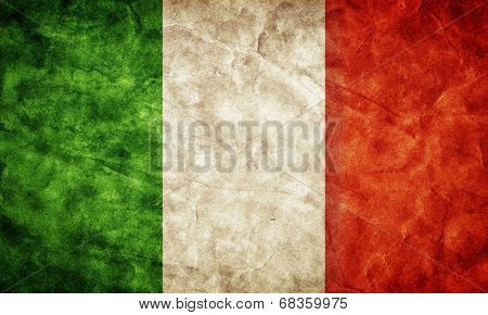 Italy grunge flag. Vintage, retro style. High resolution, hd quality. Item from my grunge flags collection.
