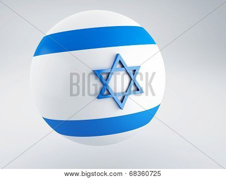 National Flag Of Israel On Sphere
