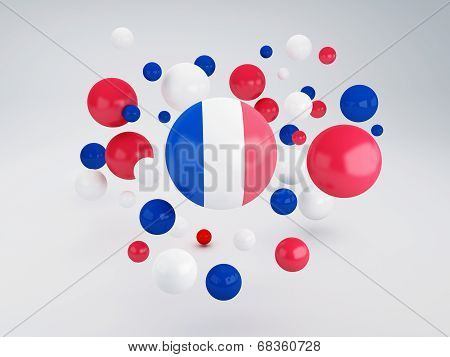 National Flag Of France  On Sphere
