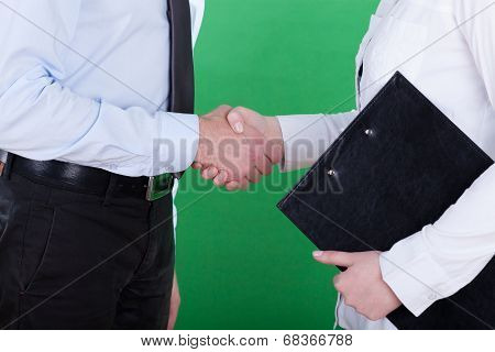 Handshake Before Business Meeting