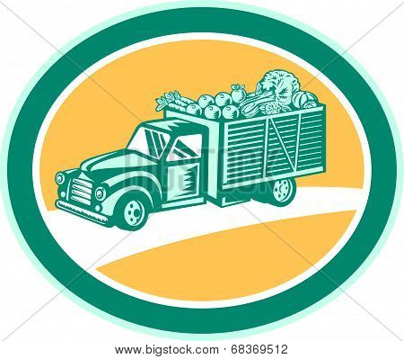 Vintage Pickup Truck Delivery Harvest Retro