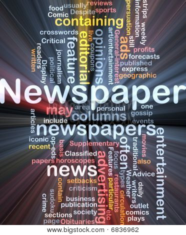 Newspaper News Background Concept Glowing