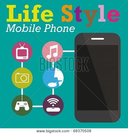 Infographic Function Technology Of Mobile Phone