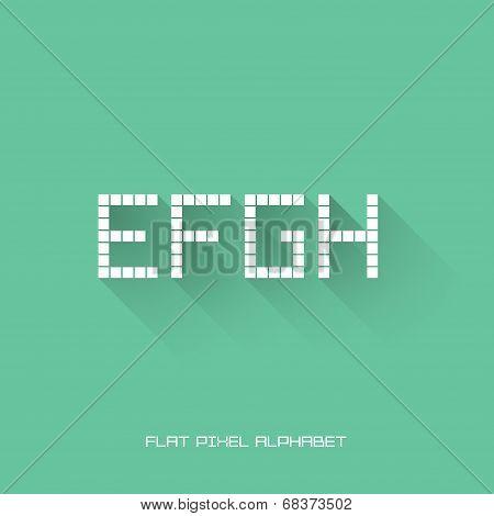 E F G H - Flat Pixel Alphabet