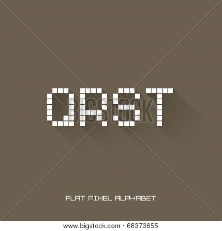 Q R S T - Flat Pixel Alphabet