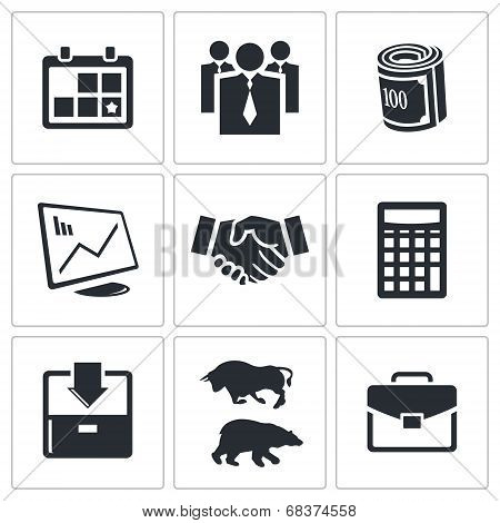 Financial Exchange icon collection