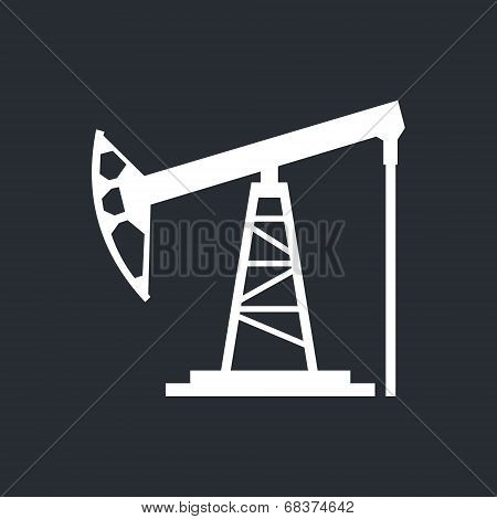 Oil Derrick Vector Sign