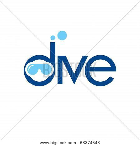 Diving Vector Sign