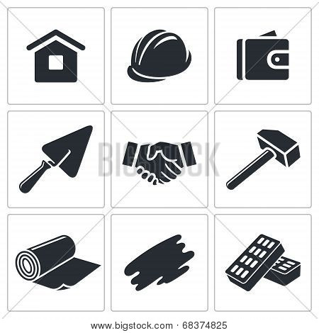 Construction and home repair icon collection