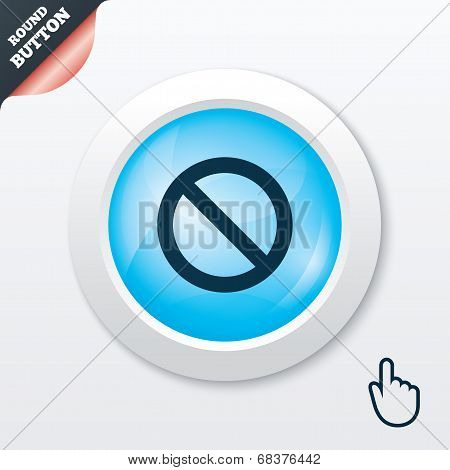Blacklist sign icon. User not allowed symbol.