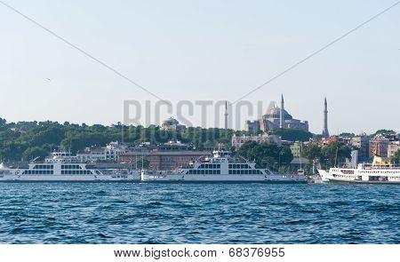 Ancient Hagia Sophia Exterior