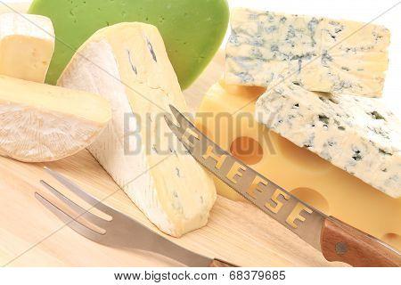 Various cheeses.