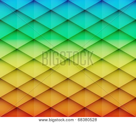 Abstract colorful mosaic vector background. Graphic pattern with rhombus elements. Vector illustration