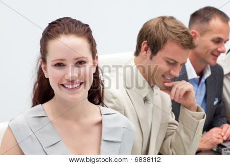 Multi-ethnic Business People In A Meeting