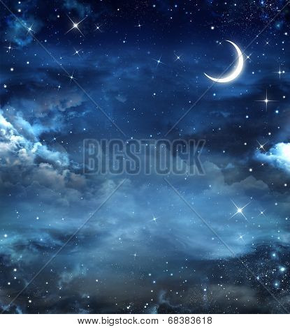Beautiful background, nightly sky