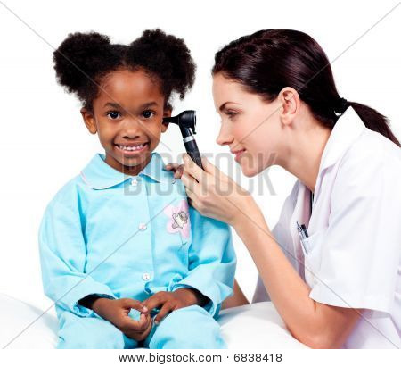 Female Doctor Checking Her Patient's Ears