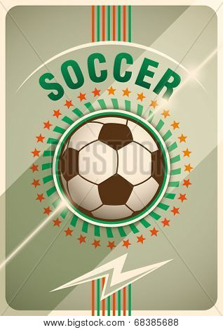 Soccer poster design. Vector illustration.