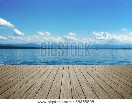 An image of sailing at Starnberg lake