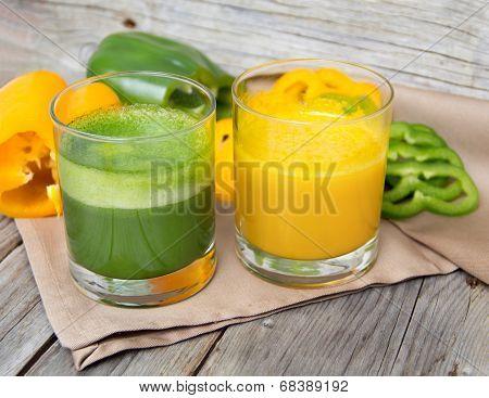 Fresh paprika smoothie juice
