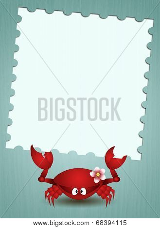 Funny Crab With Message