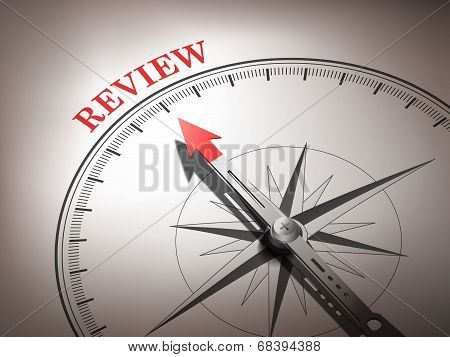 Abstract Compass Needle Pointing The Word Review