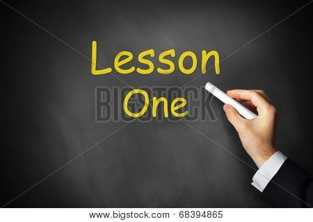 Lesson One Chalkboard