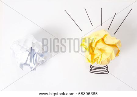 Idea Concept With Paper Balls