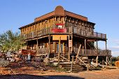 pic of south-western  - Old Wild West building in a ghost town in Arizona - JPG