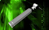 picture of otoscope  - Digital illustration of otoscope in colour background - JPG