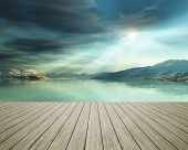 pic of jetties  - An image of a jetty at the ocean - JPG