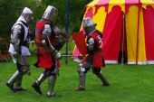 foto of underdog  - Two Knights gang up on another knight - JPG