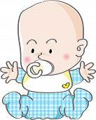 image of nipple  - this is a very cute baby with nipple - JPG