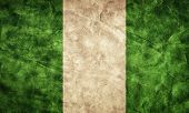 foto of nigeria  - Nigeria grunge flag - JPG