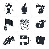 image of offside  - Soccer vector icon collection on a white background - JPG