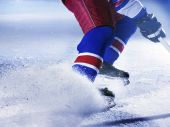 foto of ice hockey goal  - team sport goal scoring ice hockey action - JPG