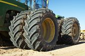 picture of heavy equipment  - Heavy equipment at a residential construction site - JPG