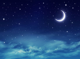 picture of moonlight  - Elegant abstract background of night sky with stars and moon - JPG