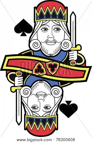 Stylized King of Spades without card version