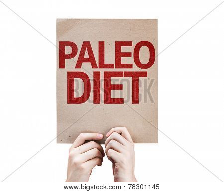 Paleo Diet card isolated on white background