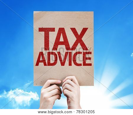 Tax Advice card with beautiful day