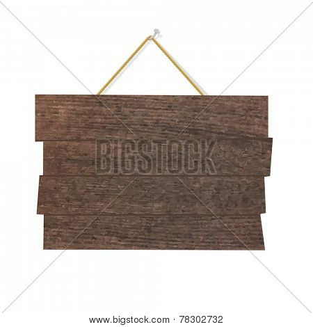 Wood Sign Board, Vector Illustration