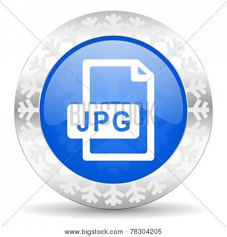 jpg file blue icon, christmas button