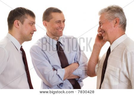 Three Businessmen Together