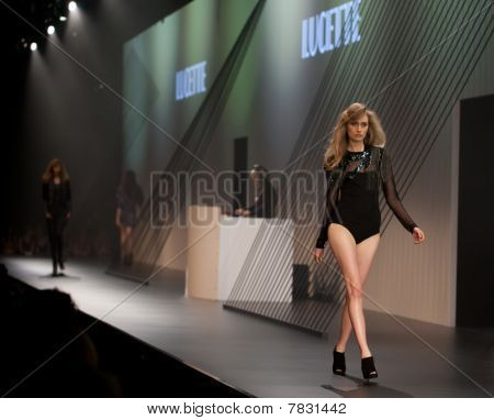 Melbourne, Australia - March 18: A Model Showcases Designs By Lucette In The 2010 L'oreal Melbourne