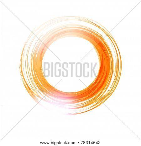 Vector abstract orange circle. Banner, flyer or Logo design template .