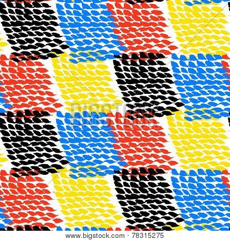Hand painted color blocked vector pattern